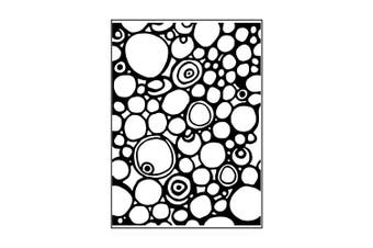 Carabelle Studio Template Circles and Dots Embossing Folder, Transparent