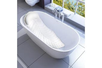 Full Body Spa Bath Pillow Mat, Non-Slip Bathtub Mattress Luxury Cushion with Large Suction Cups, Comfort Support Your Head, Neck, Shoulder, Back and Tailbone, Anti Bacteria & Quick Drying