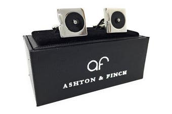 Turntable or Record Player Cufflinks in a FREE Luxury Star Cufflinks Presentation Box. Novelty Music and DJ Theme Jewellery