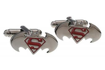 Covink® Batman Vs Superman Dawn of Justice Men's Cufflinks Superhero French Shirt Cuff Button Stainless Metal
