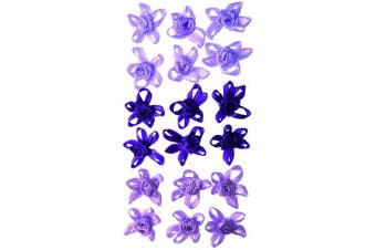Craftime AC0091V Colour Connexion Flower Bows, Purple