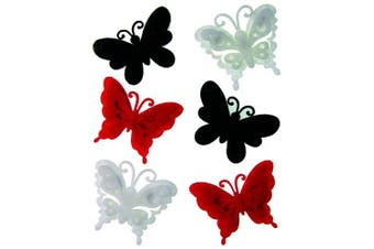 Craftime AC0136R Colour Connexion Felt Butterflies, Multi-Colour
