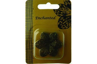 Craftime AC0144E Enchanted Metal Flowers, Gold