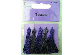 Craftime AC0124V Colour Connexion Tassels, Multi-Colour
