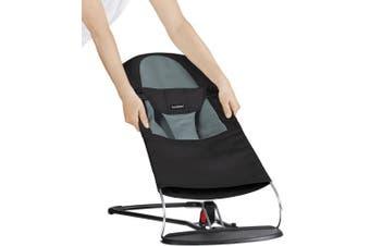 (Black/Dark Grey) - BABYBJÖRN Extra Fabric Seat for Bouncer - Black/Dark Grey (Cotton)