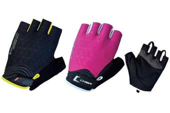 (Small, Pink/White) - Chiba Women's Air Plus Polyester Gloves