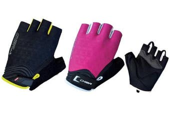 (X-Small, Pink/White) - Chiba Women's Air Plus Polyester Gloves
