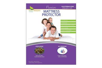 (California King) - California King Size Waterproof Mattress Protector - Fitted Sheet Style - Hypoallergenic Premium Quality Cover Protects Against Dust Mites, Allergens