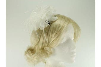 (Ivory) - Failsworth Millinery Feather Fascinator