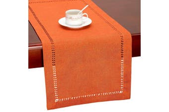 (14 x 54) - Grelucgo Thanksgiving Holidays Orange Table Runner Or Dresser Scarf, Fall Autumn Decorations(36cm x 140cm )