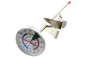 Frothy Milk Thermometer With 175mm Stainless Steel Probe and Clip Barista Coffee