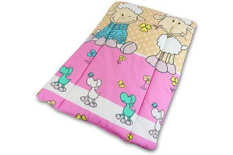 (Sheep Ecru) - Baby Changing Nursery MAT for Changing Unit 100% Cotton (Sheep Ecru)