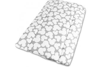 (Mouse Grey) - Baby Changing Nursery MAT for Changing Unit 100% Cotton (Mouse Grey)