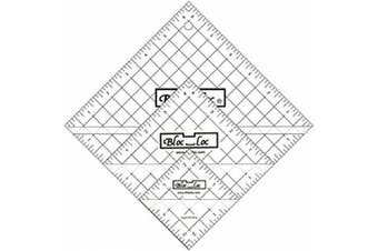 Bloc Loc~Half Square Triangle Ruler Set #13cm - 11cm 14cm ,17cm , Acrylic Ruler