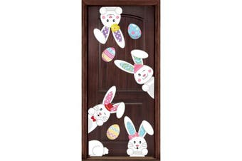 Easter Stickers Bunny Prints Decorations - Window Clings Egg Hunt Games Home Party Ornaments