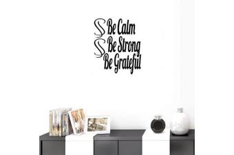 (Reference, Be Calm Be Strong Be Grateful) - BIBITIME English Word Lettering Be Calm Be Strong Be Grateful Wall Saying Quotes Vinyl Decal for School Classroom Nursery Bedroom Kids Room Living Room Decorations
