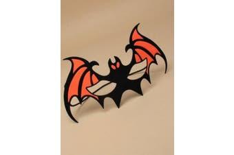 (Orange) - ALANNAHS ACCESSORIES Halloween Bat Orange Green Purple Face Mask Fancy Dress Up