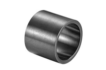 (black: stainless steel, S) - ALEXTINA Men's 19MM Wide Stainless Steel Rings Wrap Plain Band Flat Pipe Cut