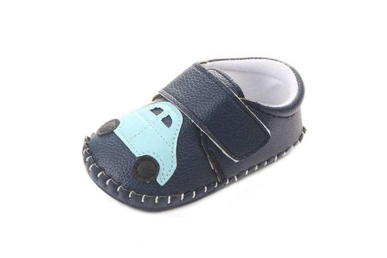 (12-18 Months, Blue Car) - Lidiano Baby Non Slip Rubber Sole Cartoon Walking Slippers Crib Shoes Infant/Toddler (12-18 Months, Blue Car)