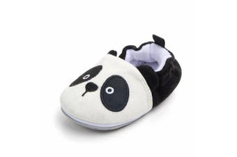 (12-18 Months, Panda) - Lidiano Baby Non Slip Rubber Sole Slip On Knitiing Slippers Crib Shoes Infant/Toddler (12-18 Months, Panda)