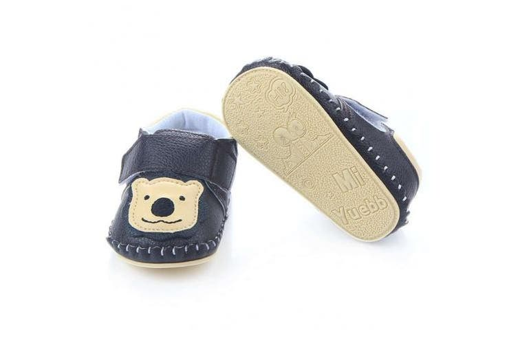 (0-6 Months, Black Lion) - Lidiano Baby Non Slip Rubber Sole Cartoon Walking Slippers Crib Shoes Infant/Toddler (0-6 Months, Black Lion)
