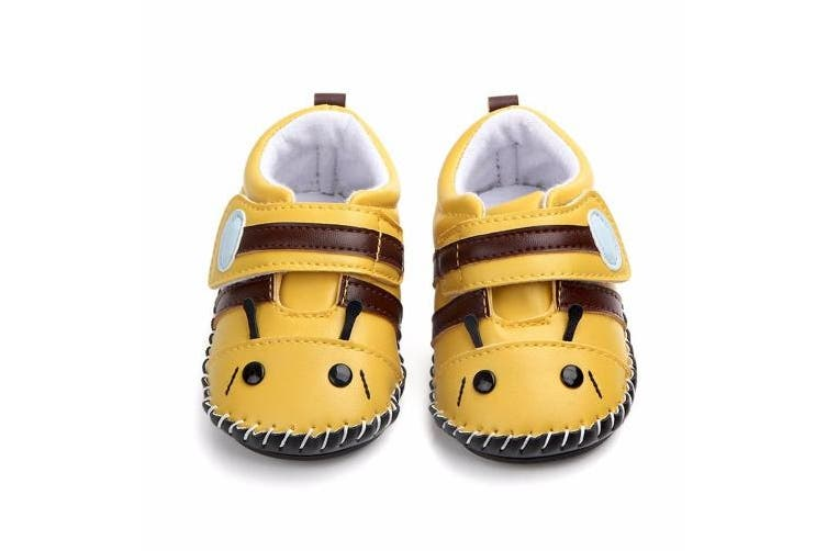 (12-18 Months, Bee) - Lidiano Baby Non Slip Rubber Sole Cartoon Walking Slippers Crib Shoes Infant/Toddler (12-18 Months, Bee)