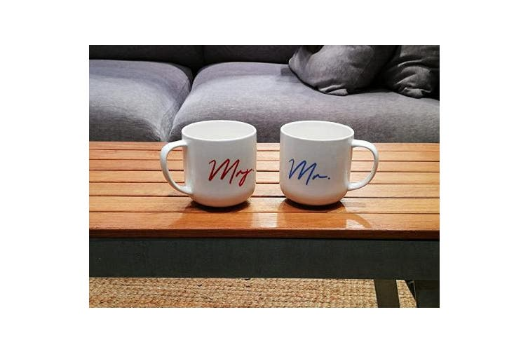 Thin Blue Red Triple Gifffted Mr And Mrs Coffee Mugs Set Funny His And Hers