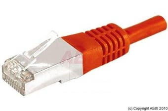 Connect 10 m Full Copper RJ45 Cat.6a F/UTP Patch Cord - Red