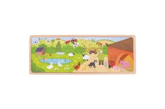 Bigjigs Toys On The Farm Puzzle - Tray Puzzle