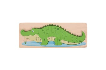 Bigjigs Toys Wooden Crocodile Number Puzzle