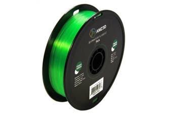 1.75mm Transparent Green PLA 3D Printer Filament - 1kg Spool (2.2 lbs) - Dimensional Accuracy +/- 0.03mm