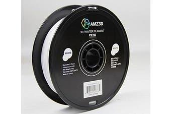 1.75mm White PETG 3D Printer Filament - 1kg Spool (2.2 lbs)