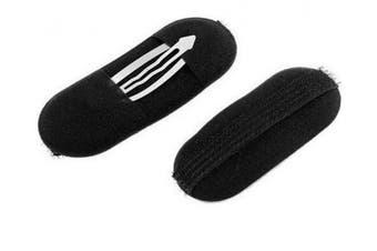 10 Pcs Black Sponge Bump Up Hair Clip Volume Padding Bun Updo Magic Head Insert Hair Barrettes Maker Tool Hairpins Hair Accessories