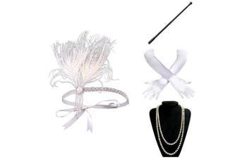 (Accessory 8) - ArtiDeco 1920s Flapper Accessories 20s Gatsby Costume Accessories Set Roaring 20s Flapper Accessories