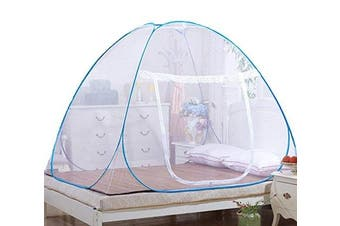LOLPI Mosquito Nets, Indoor Bottom with Single Zipper Door Mosquito Nets,Prevent Insect Pop Up (71 * 79 * 150cm ,White)