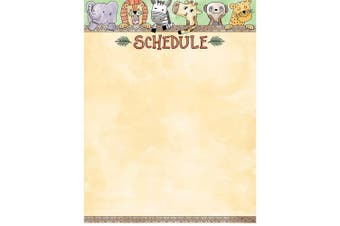 Creative Teaching Press Wall Chart Safari Friends Schedule Chart, Ctp 2795 with
