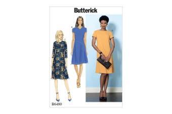 Butterick Patterns 6480 E5,Misses Dress,Sizes 14-22, Tissue, Multi-Colour, 17 x 0.5 x 22 cm