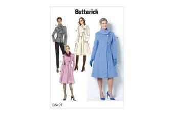 Butterick Patterns 6497 B5 Miss Petite Jacket and Coat,Sizes 8-16, Tissue, Multi-Colour, 17 x 0.5 x 22 cm