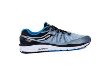 (10.5 UK, Grey (Fog / Black / Blue 4)) - Saucony Men's Echelon 6 Fitness Shoes