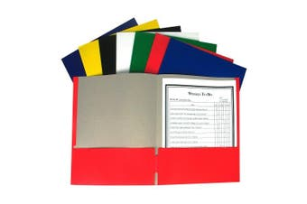 (Single Folder, No Prongs) - C-Line Recycled Two-Pocket Paper Portfolio, Colour May Vary, 1 Folder Only (05300)