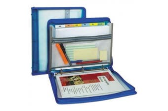 Zippered Binder With Expanding File 28cm X 3.8cm Bright Blue
