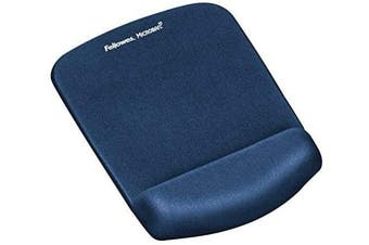 Fellowes PlushTouch Keyboard Wrist Rest Featuring Microban Antimicrobial Protection, Blue