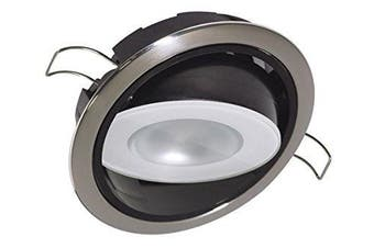 (Polished Housing, White Dimming, Red Non-Dimming, Blue Non-Dimming) - Lumitec Positionable Mirage LED Down Light, Water sealed, Positionable