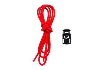 (Red) - Baoblaze Replacement 110cm Elastic Strap Bungee Shock Rope & Cord Lock Stopper Universal Fits Swimming Goggles & Scuba Dive Mask