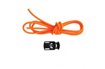 (Orange) - Baoblaze Replacement 110cm Elastic Strap Bungee Shock Rope & Cord Lock Stopper Universal Fits Swimming Goggles & Scuba Dive Mask