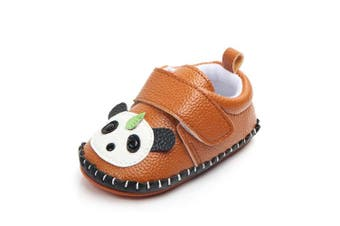 (0-6 Months, Brown Panda) - Lidiano Baby Non Slip Rubber Sole Cartoon Walking Slippers Crib Shoes Infant/Toddler (0-6 Months, Brown Panda)
