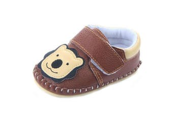 (6-12Months, Brown Lion) - Lidiano Baby Non Slip Rubber Sole Cartoon Walking Slippers Crib Shoes Infant/Toddler (6-12Months, Brown Lion)