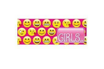 Ashley Productions ASH10632 Girls Pass, Laminated, 8.9cm x 23cm , Emojis