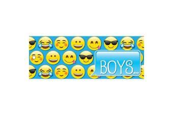 Ashley Productions ASH10633 Boys Pass, Laminated, 8.9cm x 23cm , Emojis