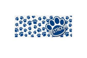 (Blue Paws Print) - Ashley Productions ASH10671 Restroom Pass, Laminated, 23cm x 8.9cm , Blue Paws Print